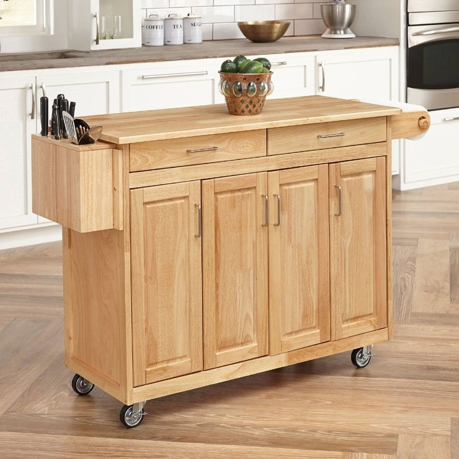 Home Styles Brown Scandinavian Kitchen Cart - Shop Kitchen Islands & Carts At Lowes.com