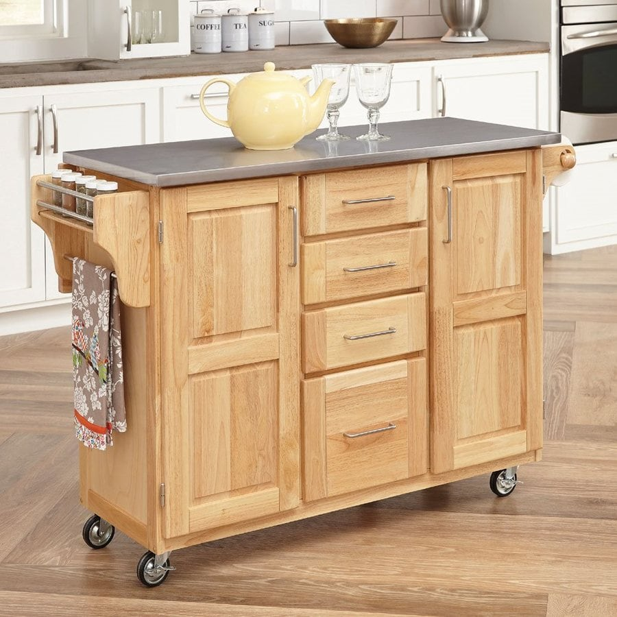 kitchen carts islands shop home styles brown scandinavian kitchen carts at lowes 6504