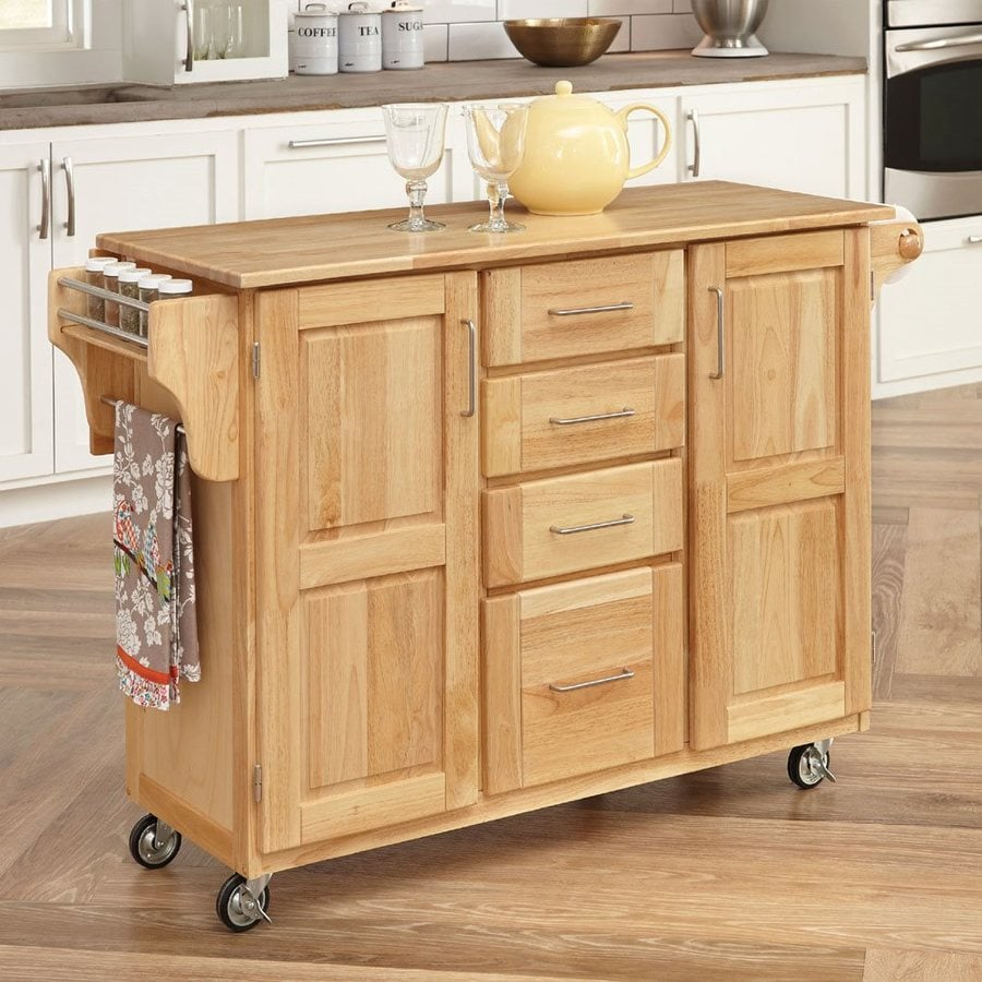 Charmant Home Styles Brown Scandinavian Kitchen Carts
