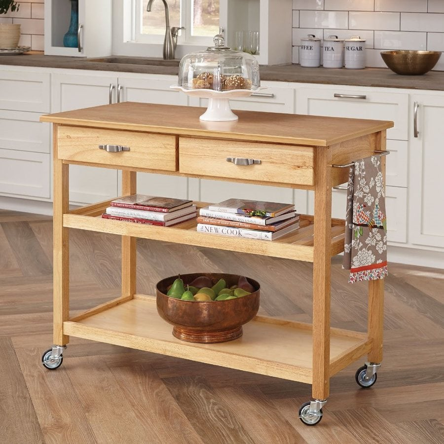 Shop Home Styles Black Scandinavian Kitchen Carts At Lowes Com: Home Styles Brown Scandinavian Kitchen Carts At Lowes.com
