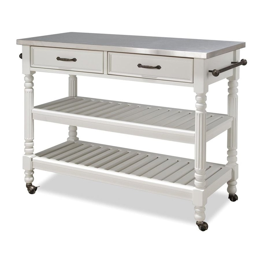 Shop Home Styles White Scandinavian Kitchen Cart At Lowes Com