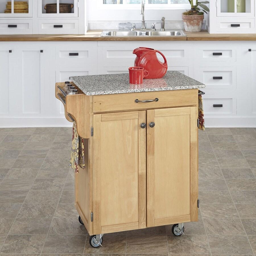 Home Styles Brown Scandinavian Kitchen Cart