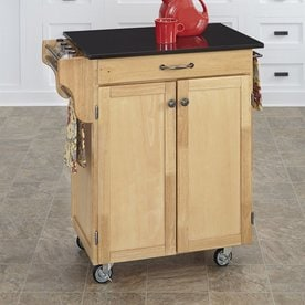Home Styles Brown Scandinavian Kitchen Carts