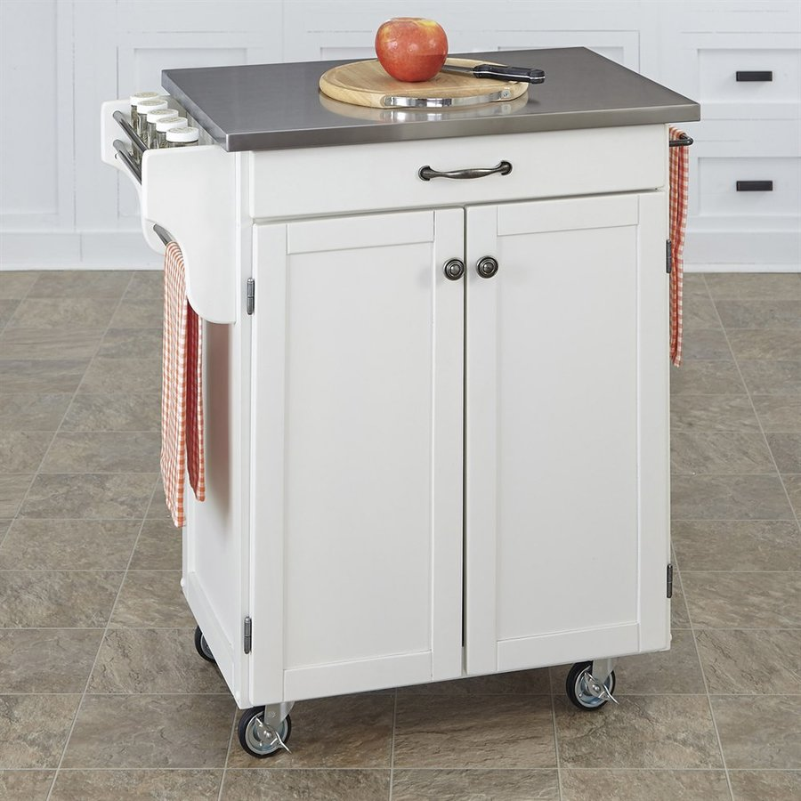 Home Styles White Scandinavian Kitchen Carts At Lowes.com
