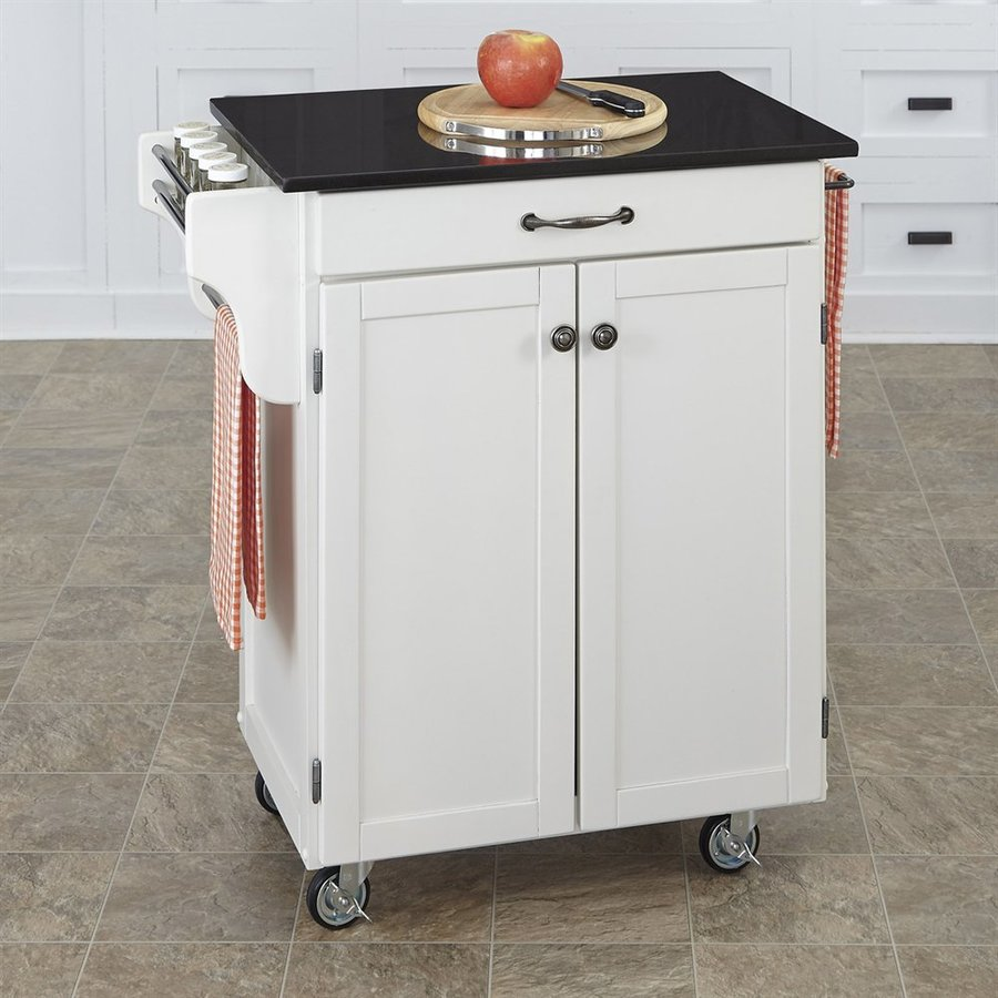 Shop Home Styles White Scandinavian Kitchen Cart At Lowes.com