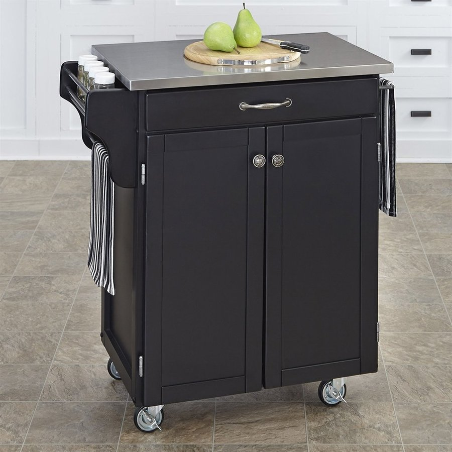 lowes kitchen island cart shop home styles black scandinavian kitchen carts at lowes 7251