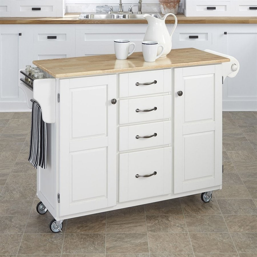 Home Styles White Scandinavian Kitchen Carts