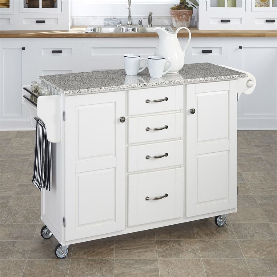 kitchen islands on casters shop home styles white scandinavian kitchen carts at lowes 5260