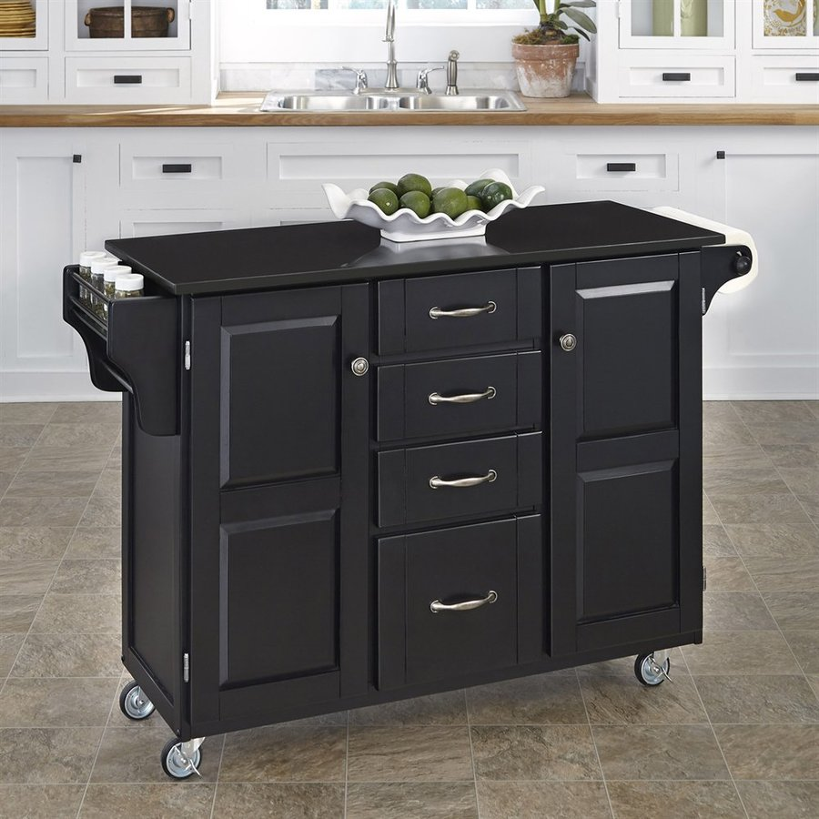 Home Styles Black Scandinavian Kitchen Carts At Lowes.com