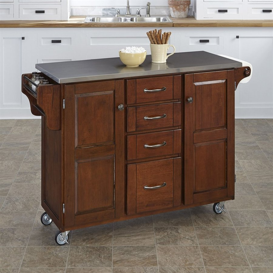 Shop Home Styles Brown Scandinavian Kitchen Carts At