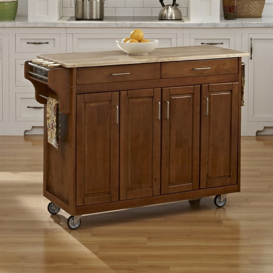 shop kitchen islands shop home styles brown scandinavian kitchen carts at lowes 14873
