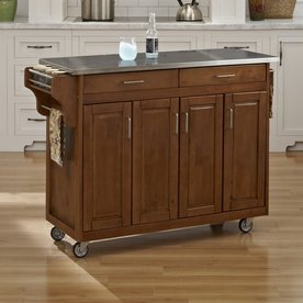 home styles brown kitchen cart