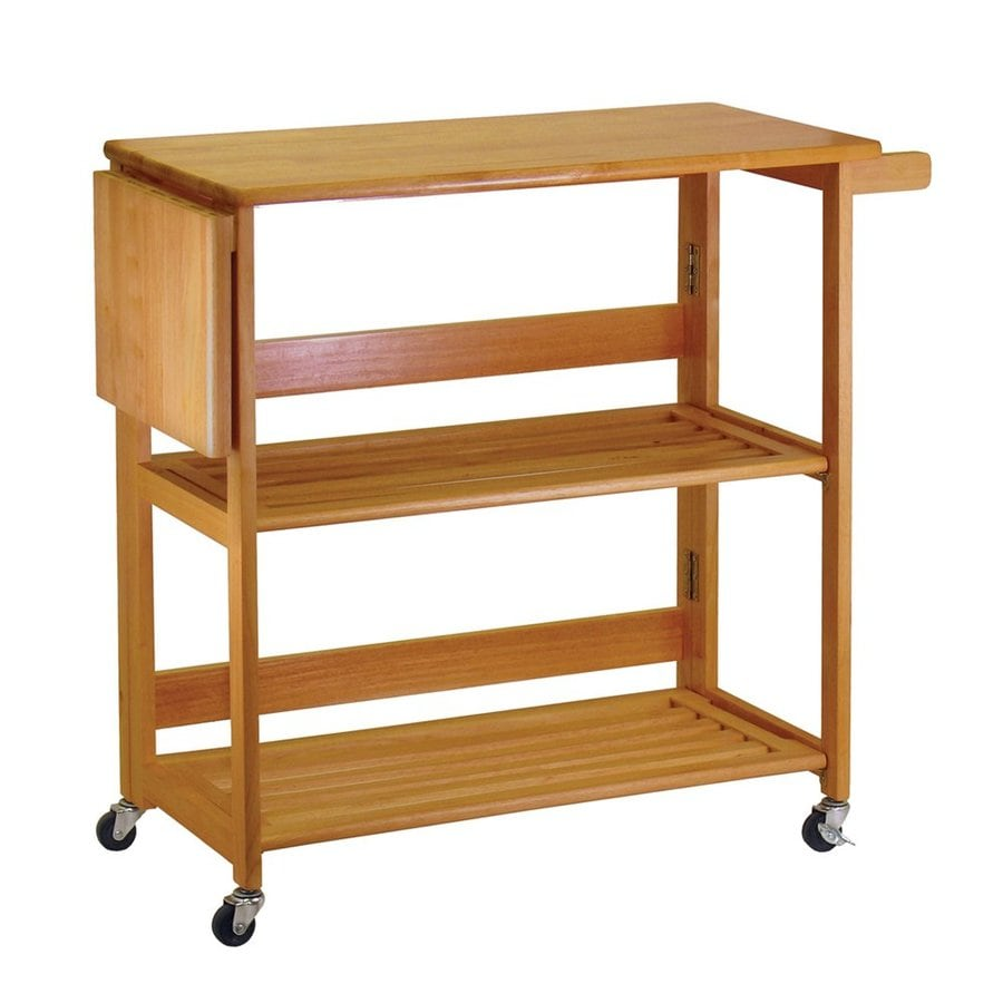 Shop Winsome Wood Brown Craftsman Kitchen Cart At Lowes.com