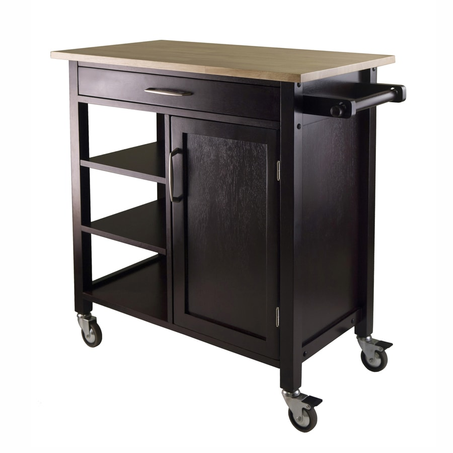 Winsome Wood Brown Country Cottage Kitchen Cart