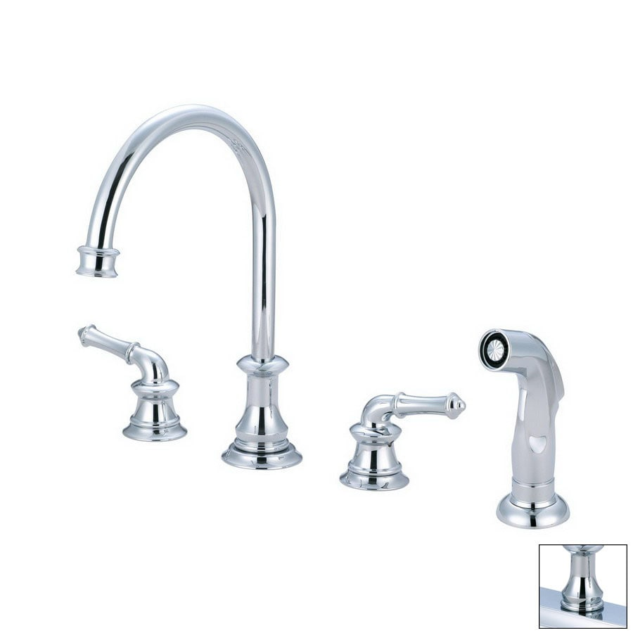 Pioneer Industries Del Mar Polished Chrome 2-Handle Deck Mount High-Arc Kitchen Faucet