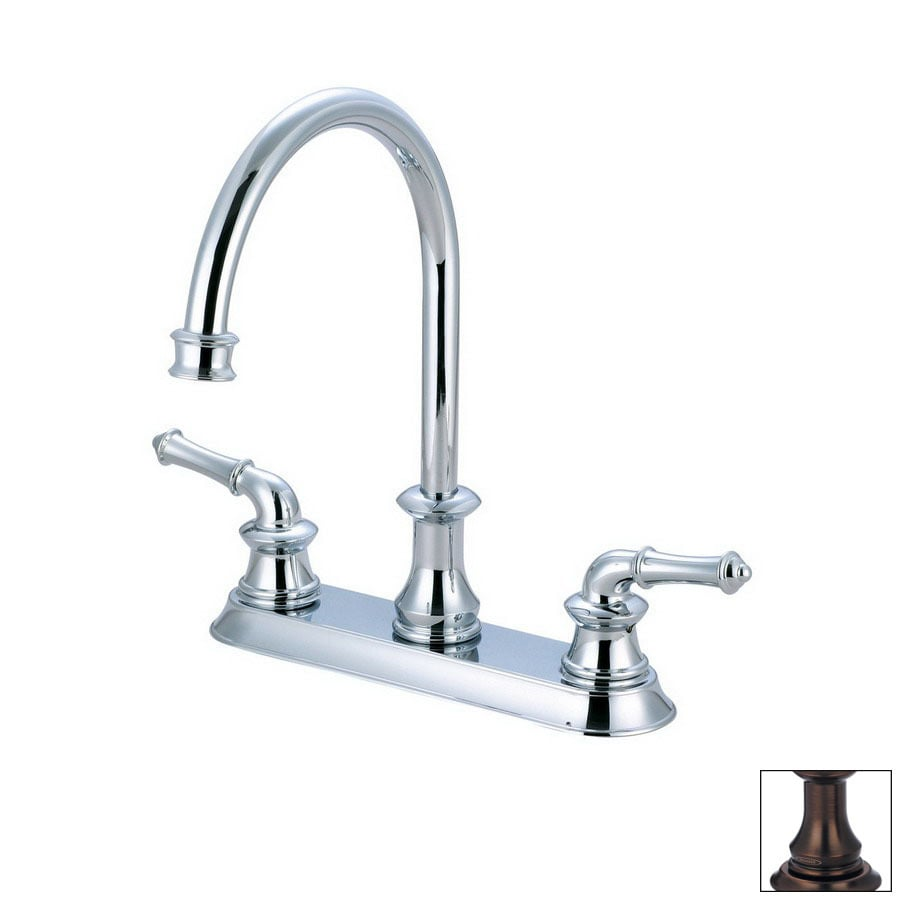 Pioneer Industries Del Mar Oil-Rubbed Bronze 2-Handle Deck Mount High-Arc Kitchen Faucet
