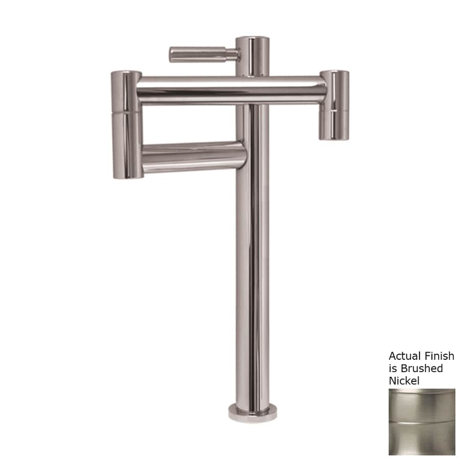 Shop whitehaus collection decohaus brushed nickel 1 handle Pot filler faucet