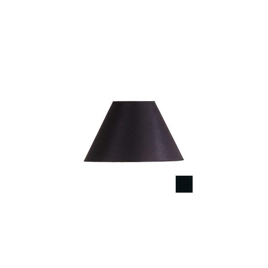 Cascadia Lighting 10-in x 17-in Black Cone Lamp Shade