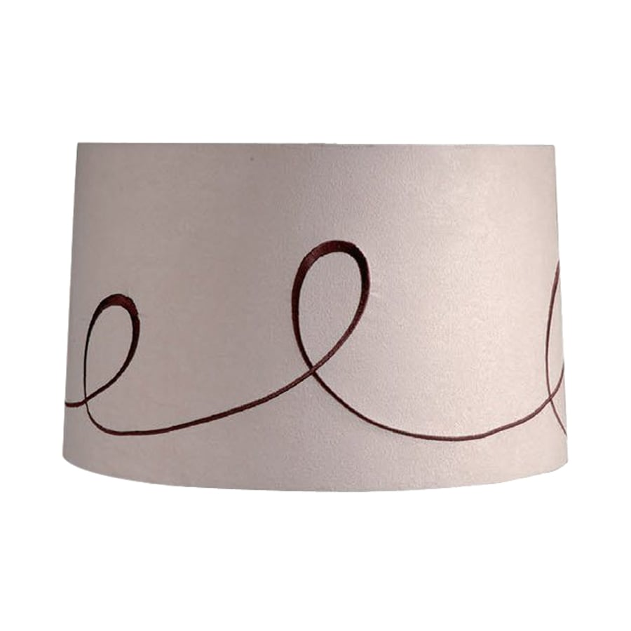 Cascadia Lighting Ludwig 10-in x 16-in Beige Fabric Drum Lamp Shade