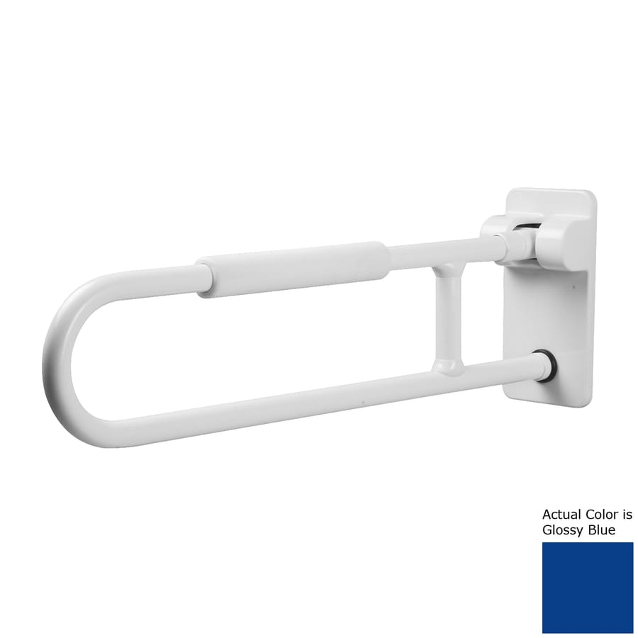 Ponte Giulio USA Glossy Blue Wall Mount Folding Grab Bar