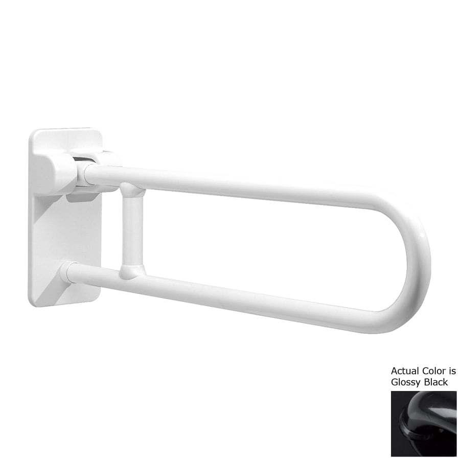 Ponte Giulio USA Glossy Black Wall Mount Folding Grab Bar