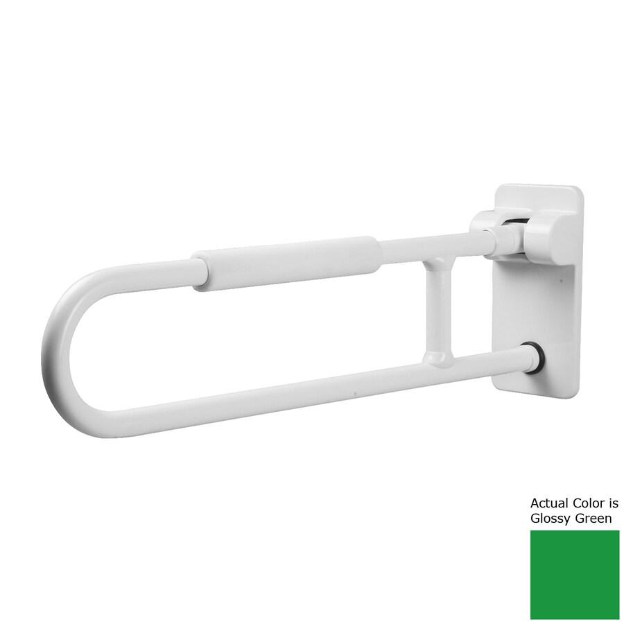 Ponte Giulio USA Glossy Green Wall Mount Folding Grab Bar