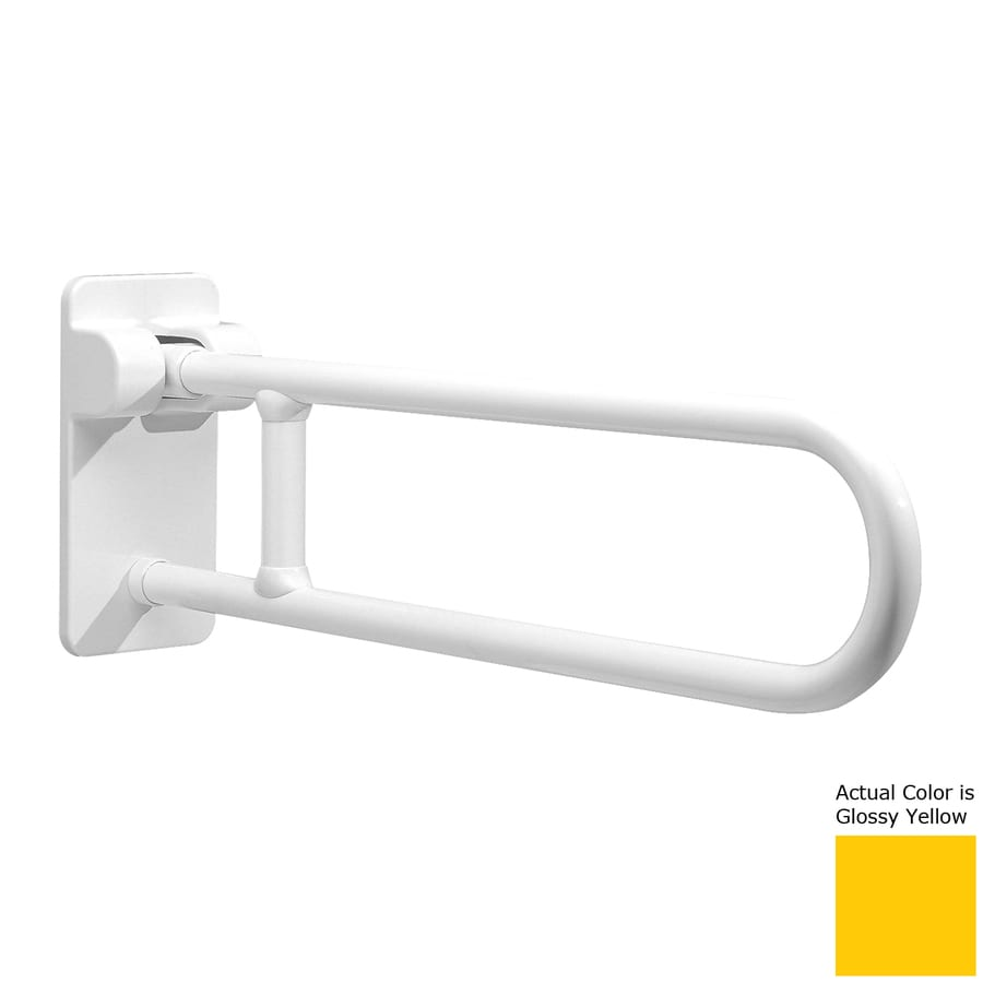 Ponte Giulio USA Glossy Yellow Wall Mount Folding Grab Bar