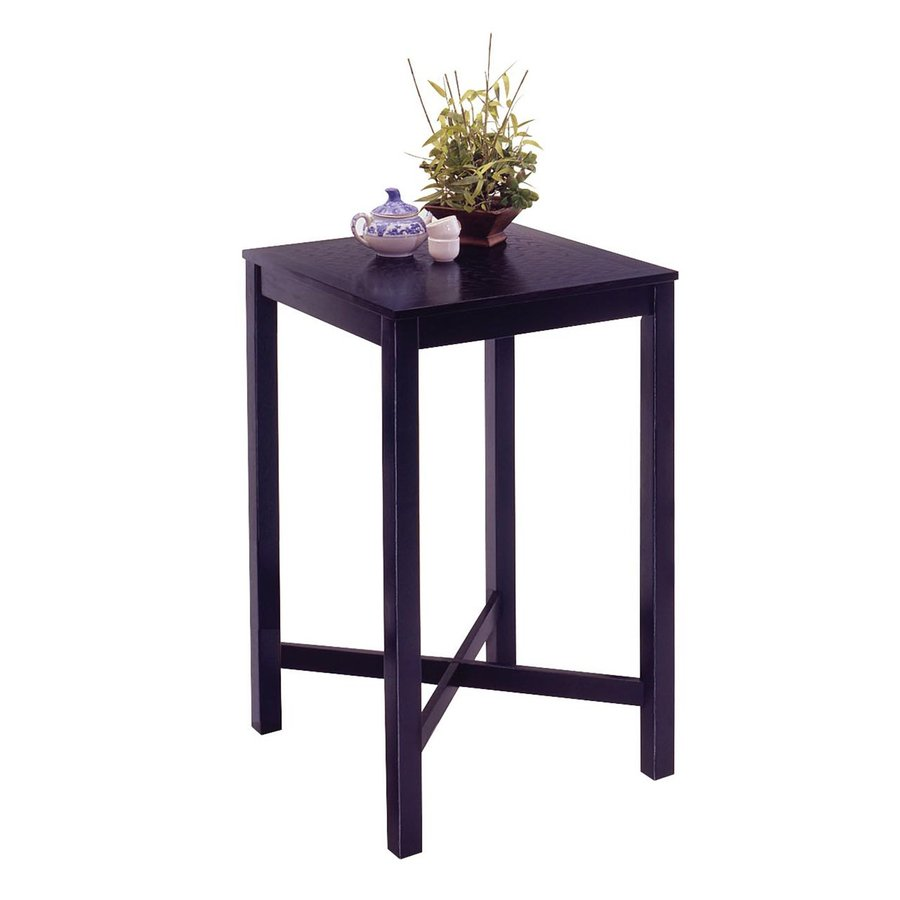 Shop Home Styles Black Wood Bar Table At