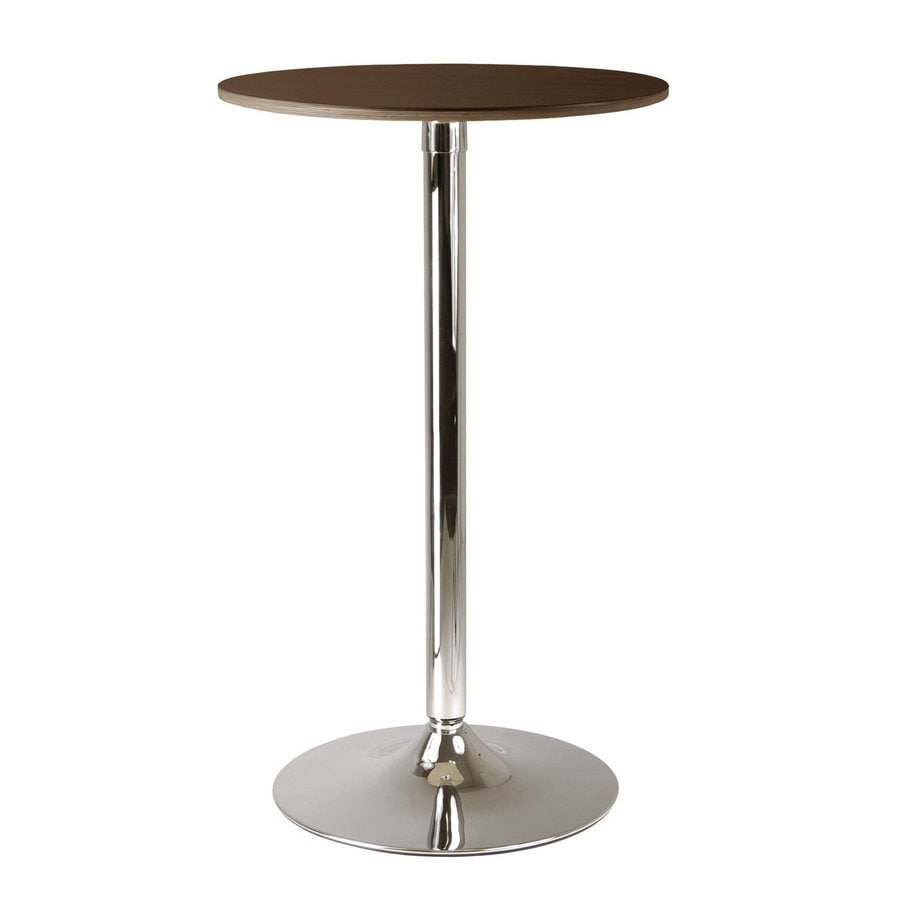 Winsome Wood Kallie Cappuccino/Metal Round Bistro Table