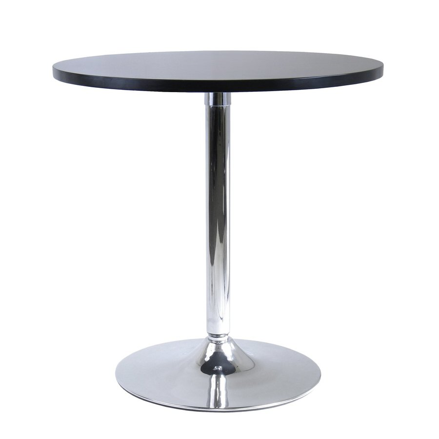 Winsome Wood Spectrum Black Composite Round Dining Table