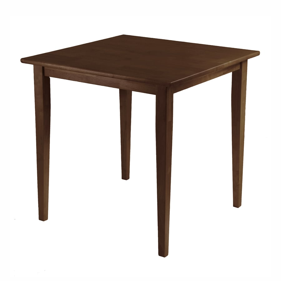 Winsome Wood Groveland Antique Walnut Square Bistro Table