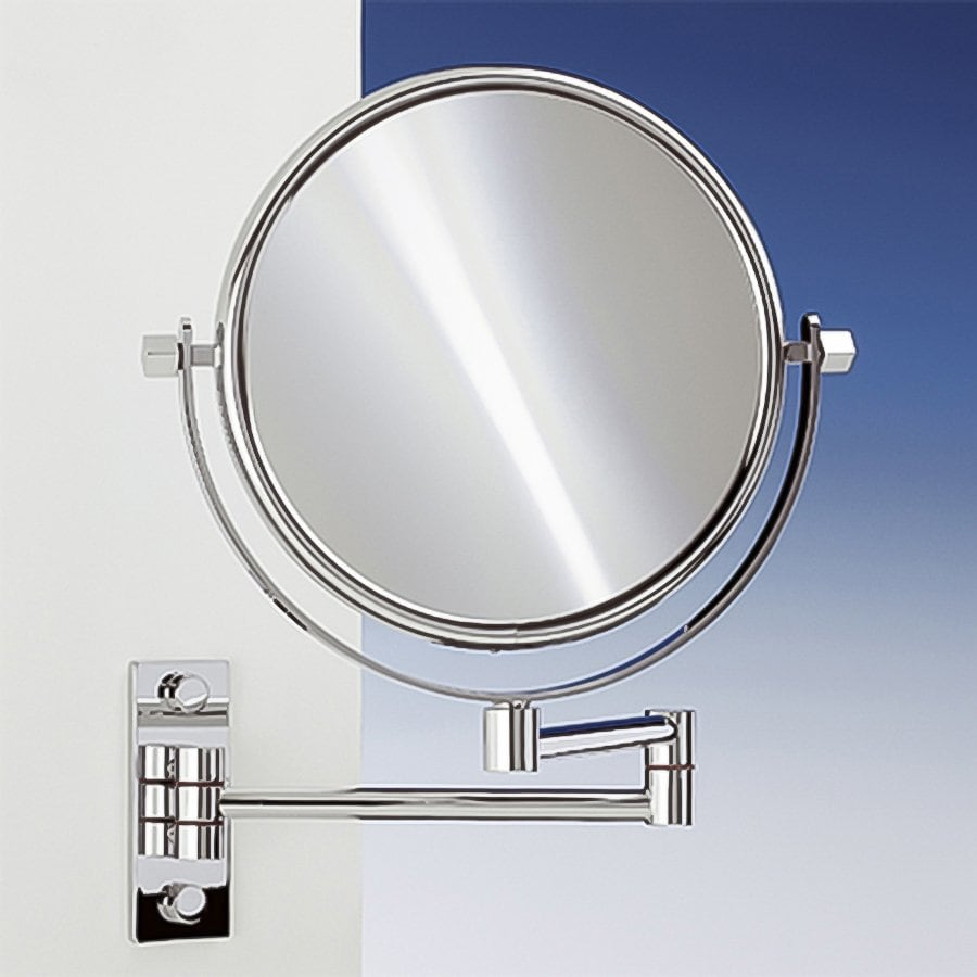 Nameeks Windisch Chromed Brass 5x Magnifying Extendable Wall-Mounted Reversible Vanity Mirror