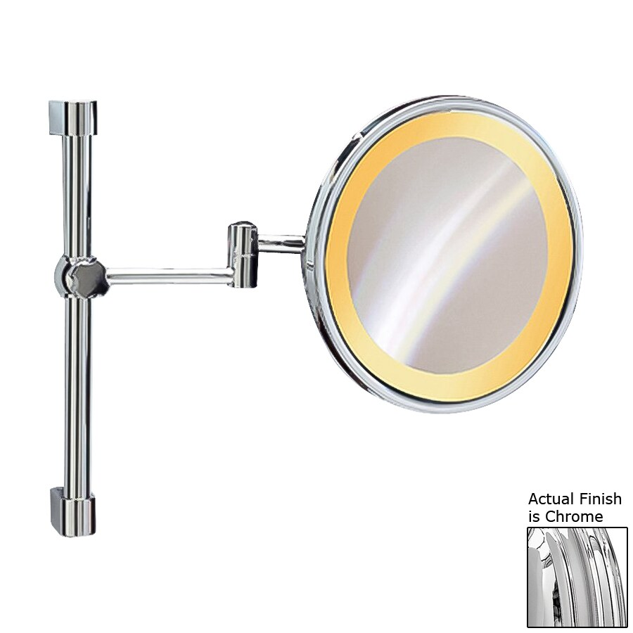 5x magnifying wall mounted sliding rail vanity mirror light included