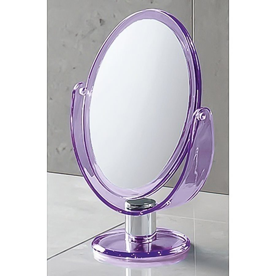 Nameeks Mirror Purple Plastic Magnifying Countertop Vanity Mirror