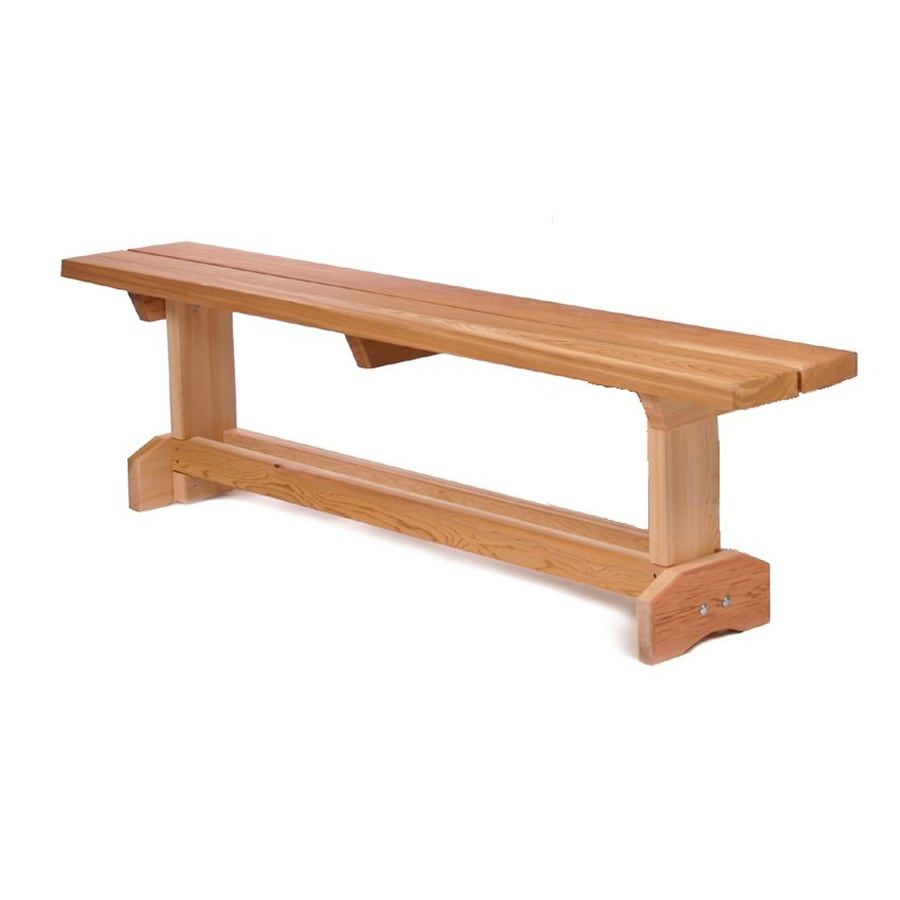 All Things Cedar 12-in W x 69-in L Wood Patio Bench