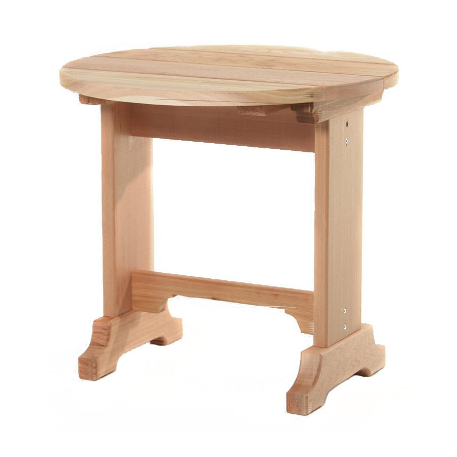 All Things Cedar 21-in x 21-in Sand Cedar Round Patio End Table