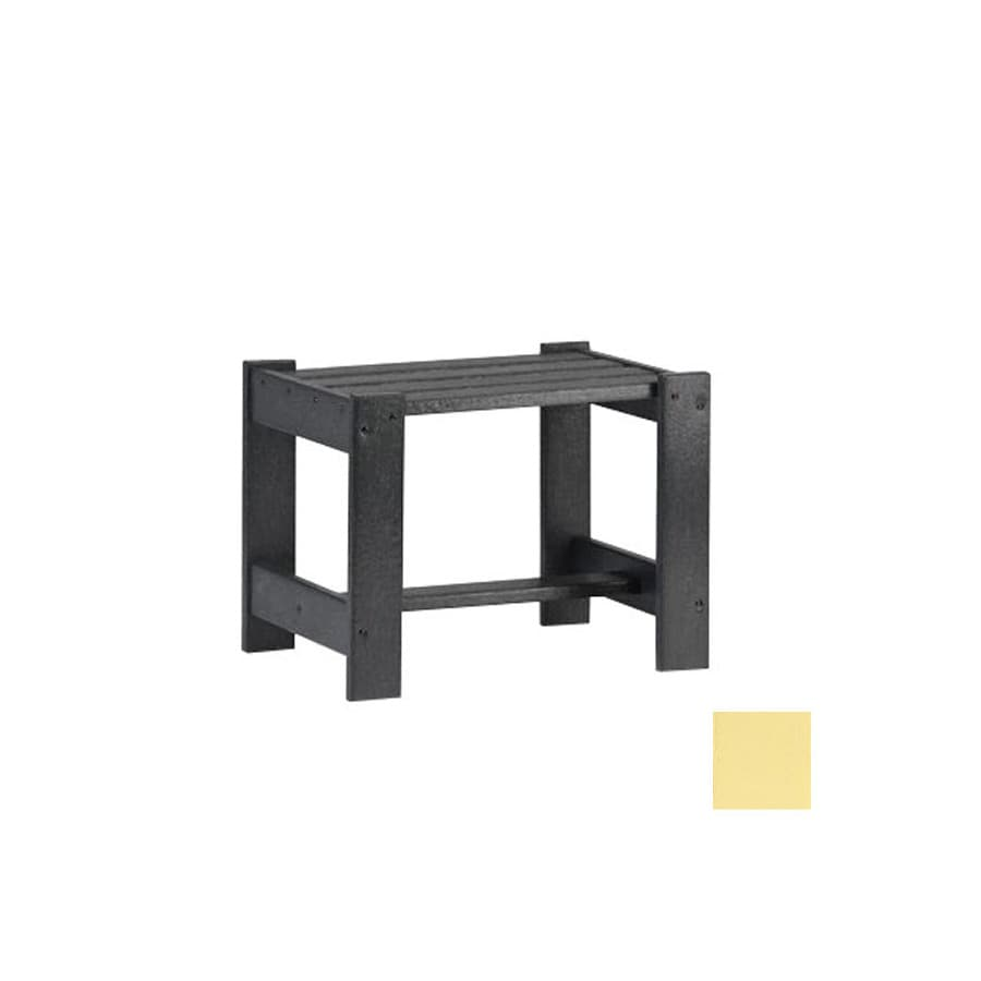 Siesta Furniture Simply Siesta 19.5-in x 14-in Light Yellow Rectangle Patio End Table