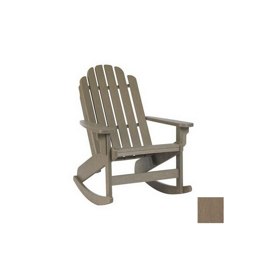 shop siesta furniture bayfront weathered wood plastic slat seat outdoor rocking chair at. Black Bedroom Furniture Sets. Home Design Ideas
