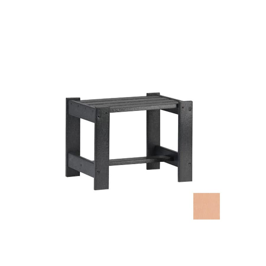 Siesta Furniture Simply Siesta 19.5-in x 14-in Peach Rectangle Patio End Table