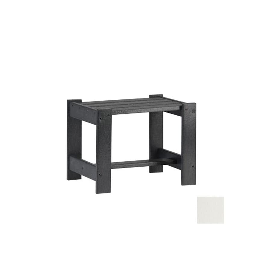 Siesta Furniture Simply Siesta 19.5-in x 14-in White Rectangle Patio End Table