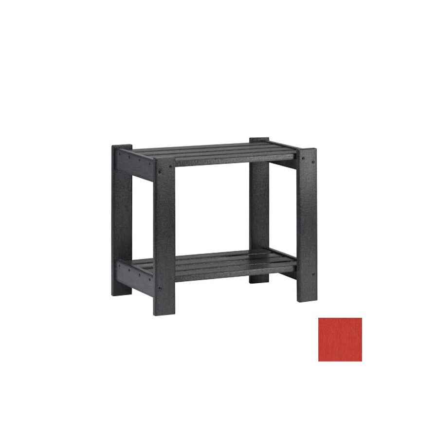 Siesta Furniture Simply Siesta 19.5-in x 14-in Red Rectangle Patio End Table