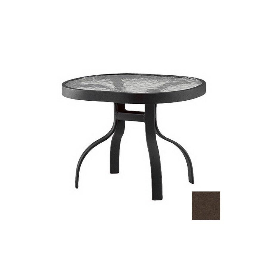 Shop Cascadia Deluxe Tables 24 5 In X 19 5 In Espresso Cast Aluminum