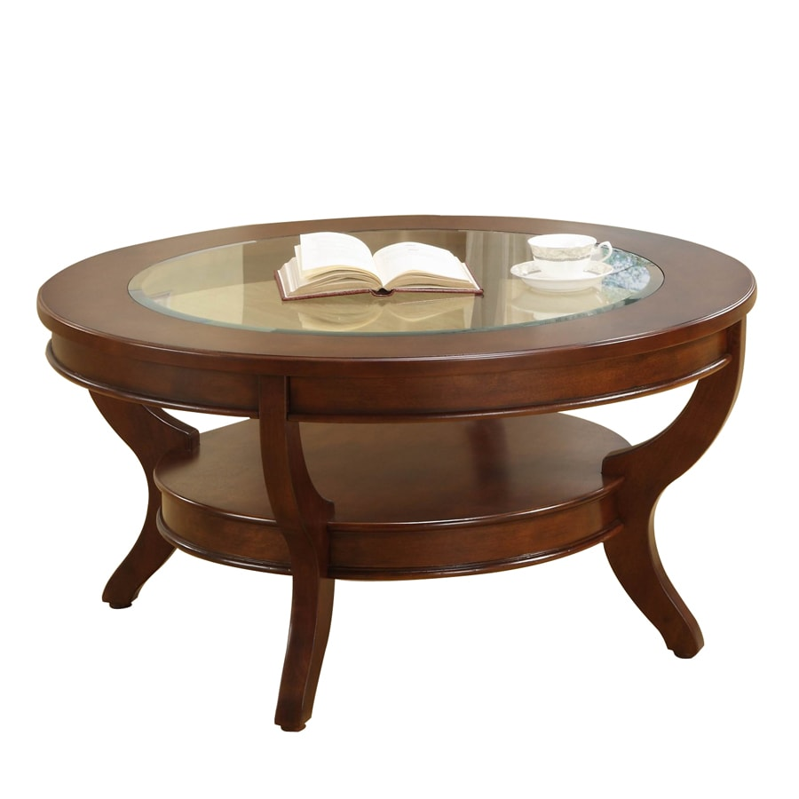 Ordinaire Homelegance Avalon Low Sheen Cherry Maple Round Coffee Table