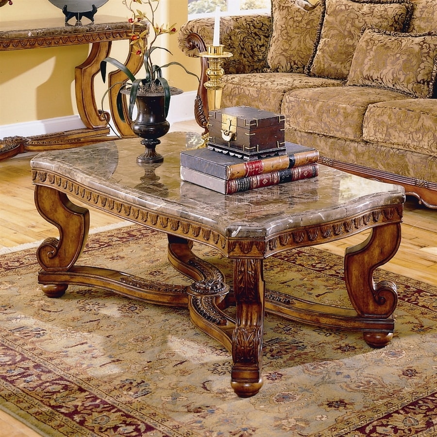 Marble Top Coffee And End Tables: Shop Homelegance Tarantula Marble Granite/Marble Coffee