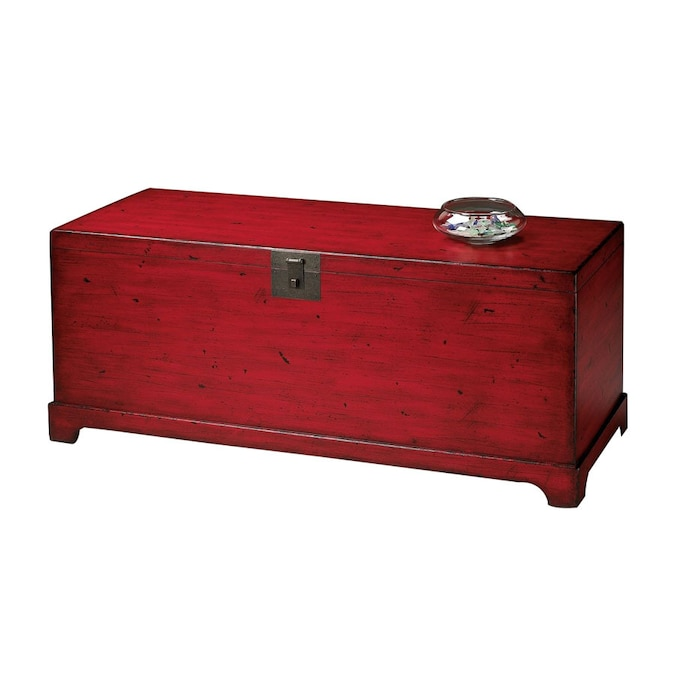 Butler Specialty Distressed Red Rectangular Coffee Table In The Coffee Tables Department At Lowes Com