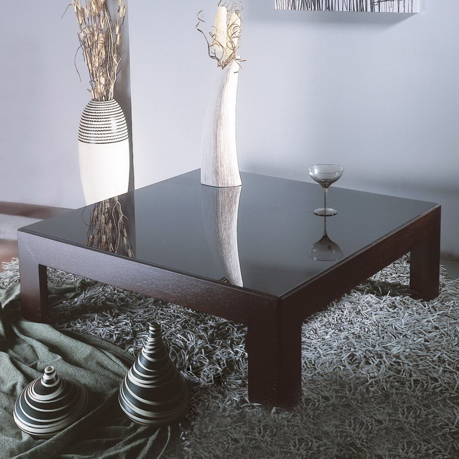 Beverly Hills Furniture Narciss Oak Glass Coffee Table