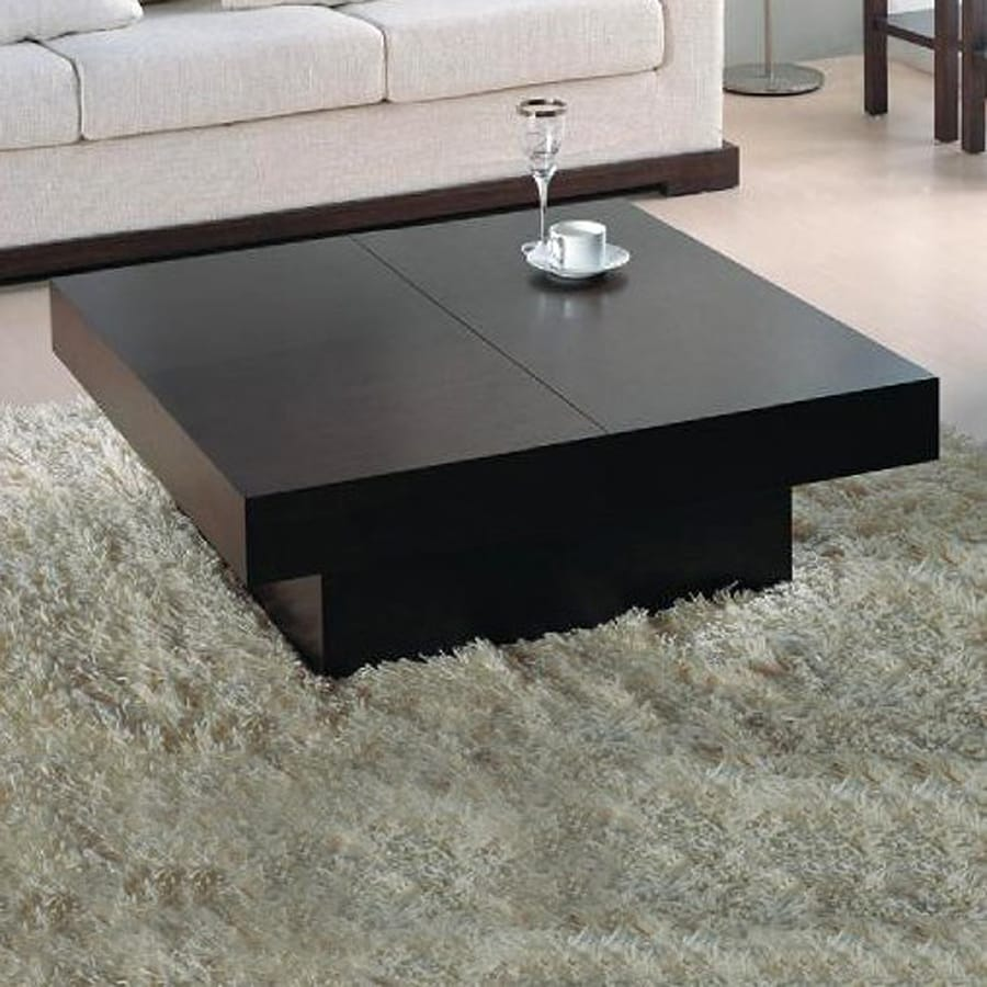 Beverly Hills Furniture Nile Wenge Oak Square Coffee Table