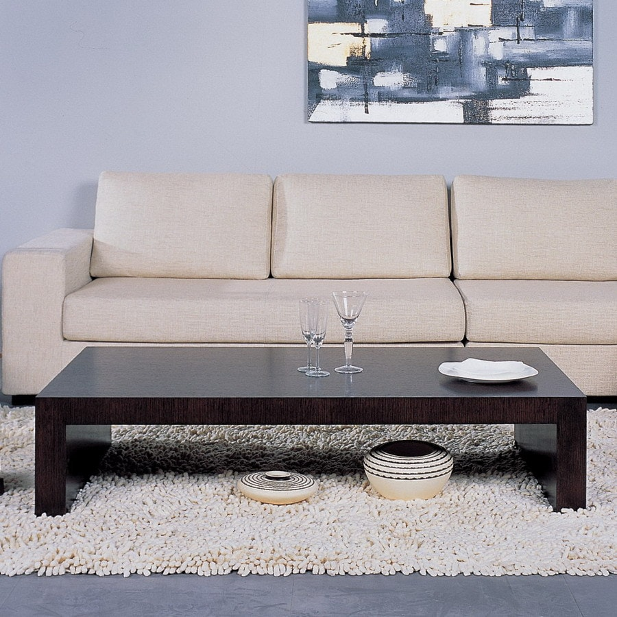 Beverly Hills Furniture Recluse Wenge Oak Rectangular Coffee Table