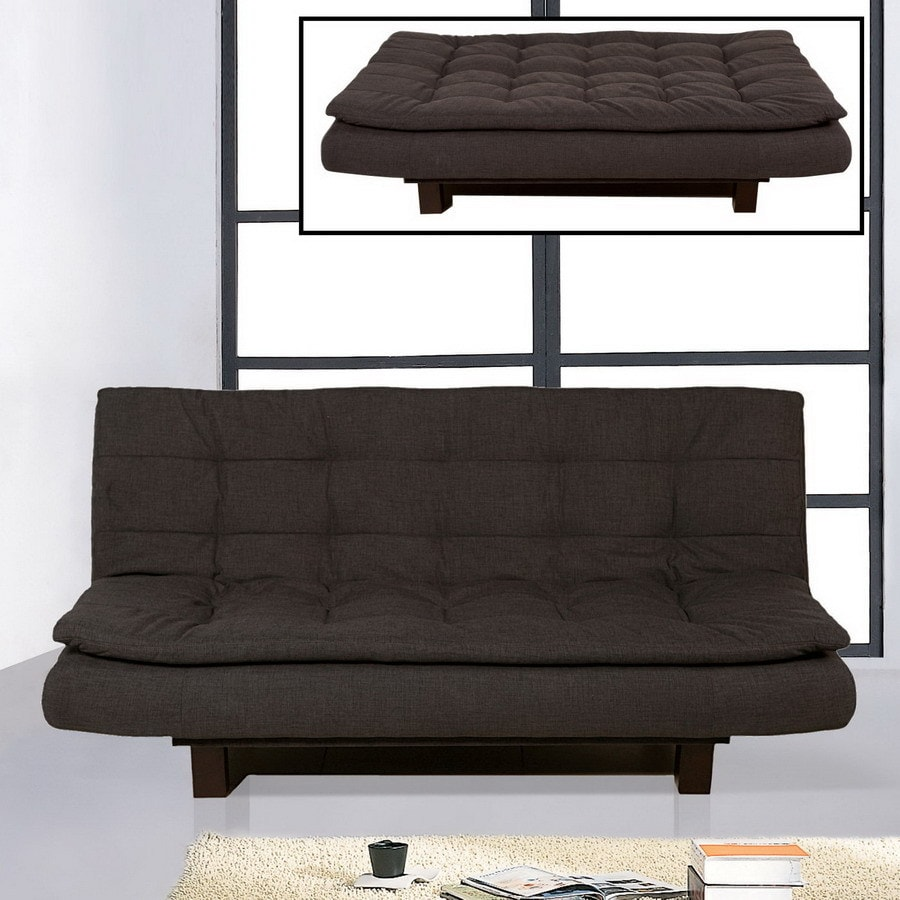 bh design click clack graphite blue polyester futon shop bh design click clack graphite blue polyester futon at lowes    rh   lowes