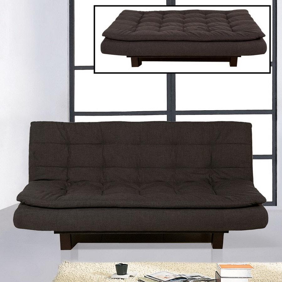 bh design click clack graphite blue polyester futon